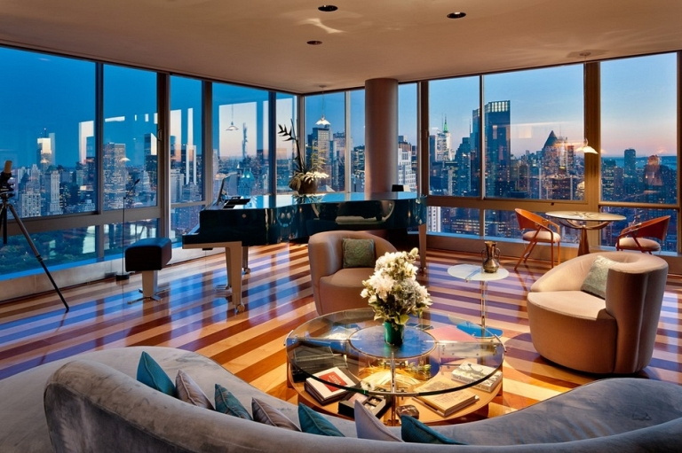 apartments-lincoln-center-nyc-the-gartner-penthouse-lovely-living-room-details-featuring-nice-piano-area-surrounded-by-beautiful-glazed-walls-nyc-luxury-penthouses-the-big-apple-s-exclusive-elegance
