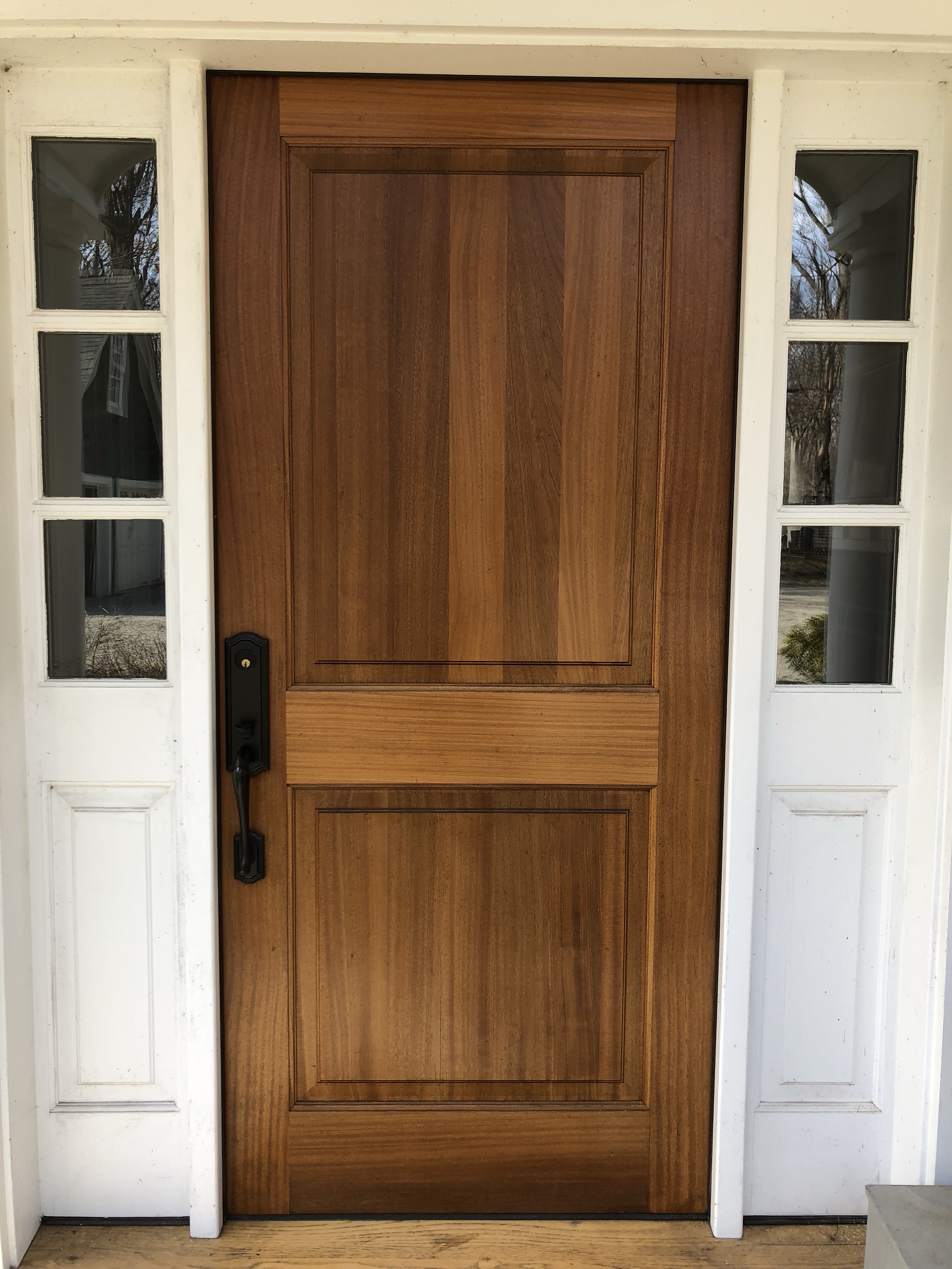 Previously It Was An Okay Midgrade Wood Dutch Door And Attached Was A  Wooden Screen Glass ...